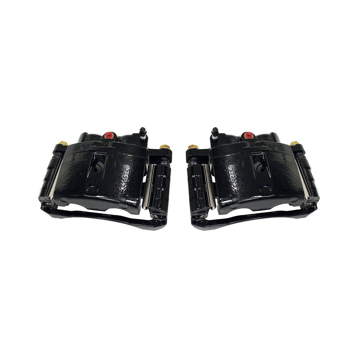 CK00969 [ 2 ] Performance Grade Black Powder Coated Semi-Loaded Caliper Assembly Pair Set Callahan Brake Parts