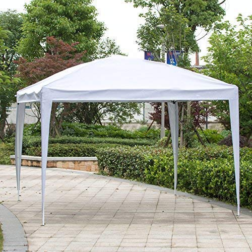 CharaVector 10 x 10 ft Heavy Duty Ez Pop Up Gazebo Canopy Tent for Outdoor Waterproof Party Wedding Exhibition Pavilion BBQ Beach