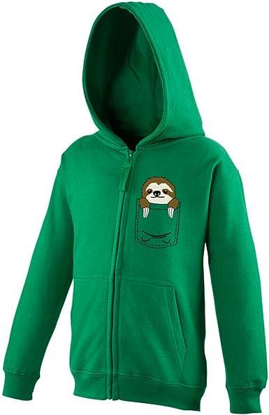 Pocket Sloth Mini Pet Cute Funny Pullover Hoodie