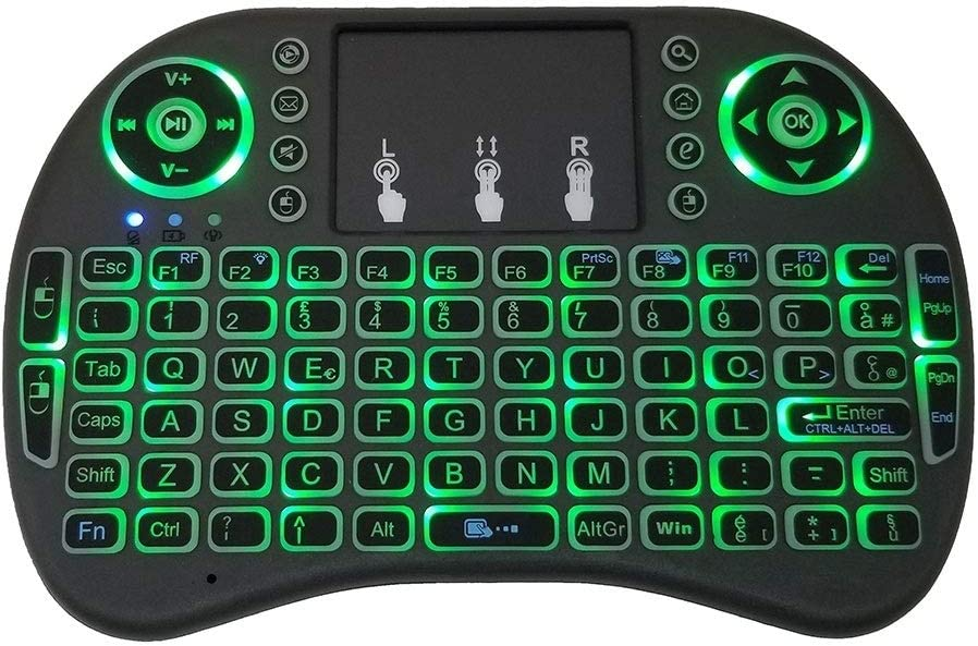 Support Language Italy i8 Air Mouse Wireless Backlight Keyboard with Touchpad for Android TV Box /& Smart TV /& PC Tablet /& Xbox360 /& PS3 /& HTPC//IPTV
