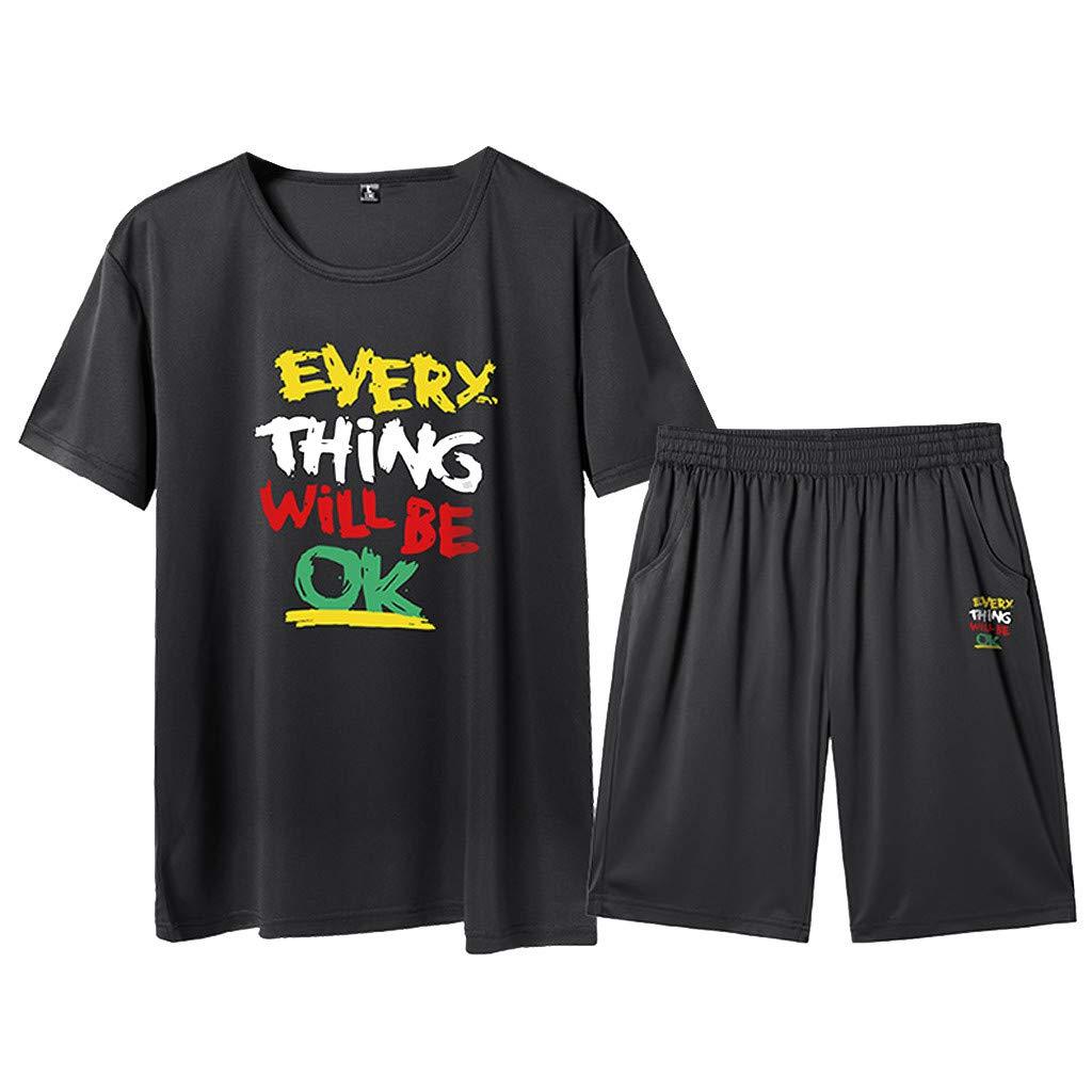 Pantaloncini Basket con Tasche Maglia T Shirt Ragazzo Manica Corta Pantaloncino A Compressione con Asciugatura Rapida FRAUIT Tuta Uomo Estiva Magliette Divertenti Palestra