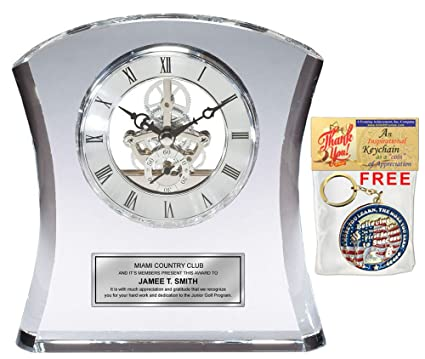 Amazoncom Tower Da Vinci Crystal Clock With Silver Dial And Silver