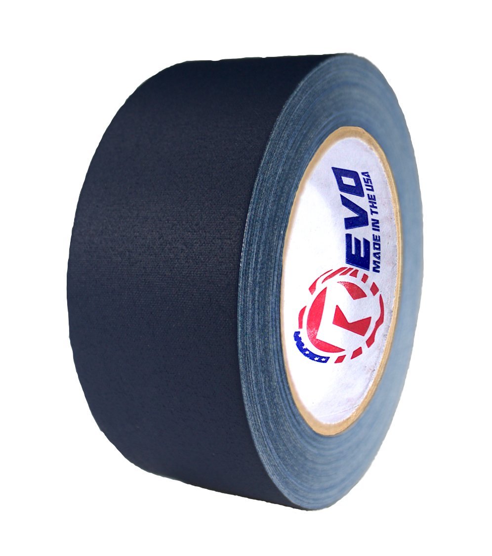 REVO Premium Professional Gaffers Tape (2'' x 30 yards) MADE IN USA (BLUE GAFFERS) Non Reflective Tape- Camera Tape- Better than Duct Tape (Black, Gray, Green, Red, White, Yellow) SINGLE ROLL