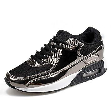 GUNAINDMX Zapatillas de tacón Ocultas Zapatos de Plataforma con cuñas Negras Casual Zapatos de Cordones con Cordones Zapatos de Mujer: Amazon.es: Deportes y ...