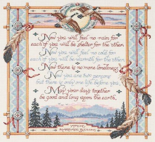 Janlynn Apache Wedding Blessing Counted Cross Stitch Kit 15X14 14 Count 23-0309 by Janlynn by Janlynn
