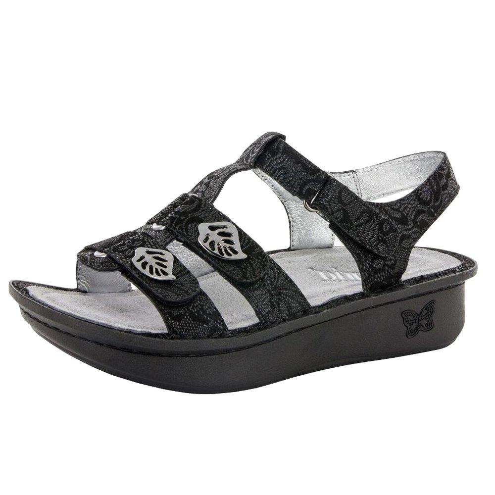 Alegria Womens Kleo Sandal Shoes, Black Leaf, 38 EU (8-8.5 US) by Alegria