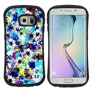 "Hypernova Slim Fit Dual Barniz Protector Caso Case Funda Para Samsung Galaxy S6 EDGE [Tela Campo Cielo Pintura""]"