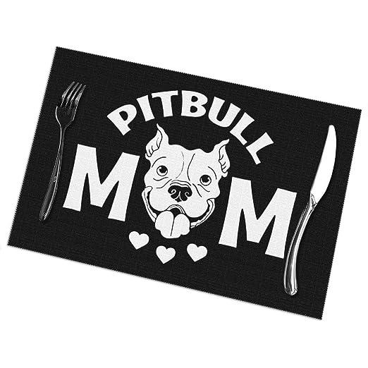 Pitbull Mom Manteles Individuales para Mesa de Comedor Juego de 6 ...