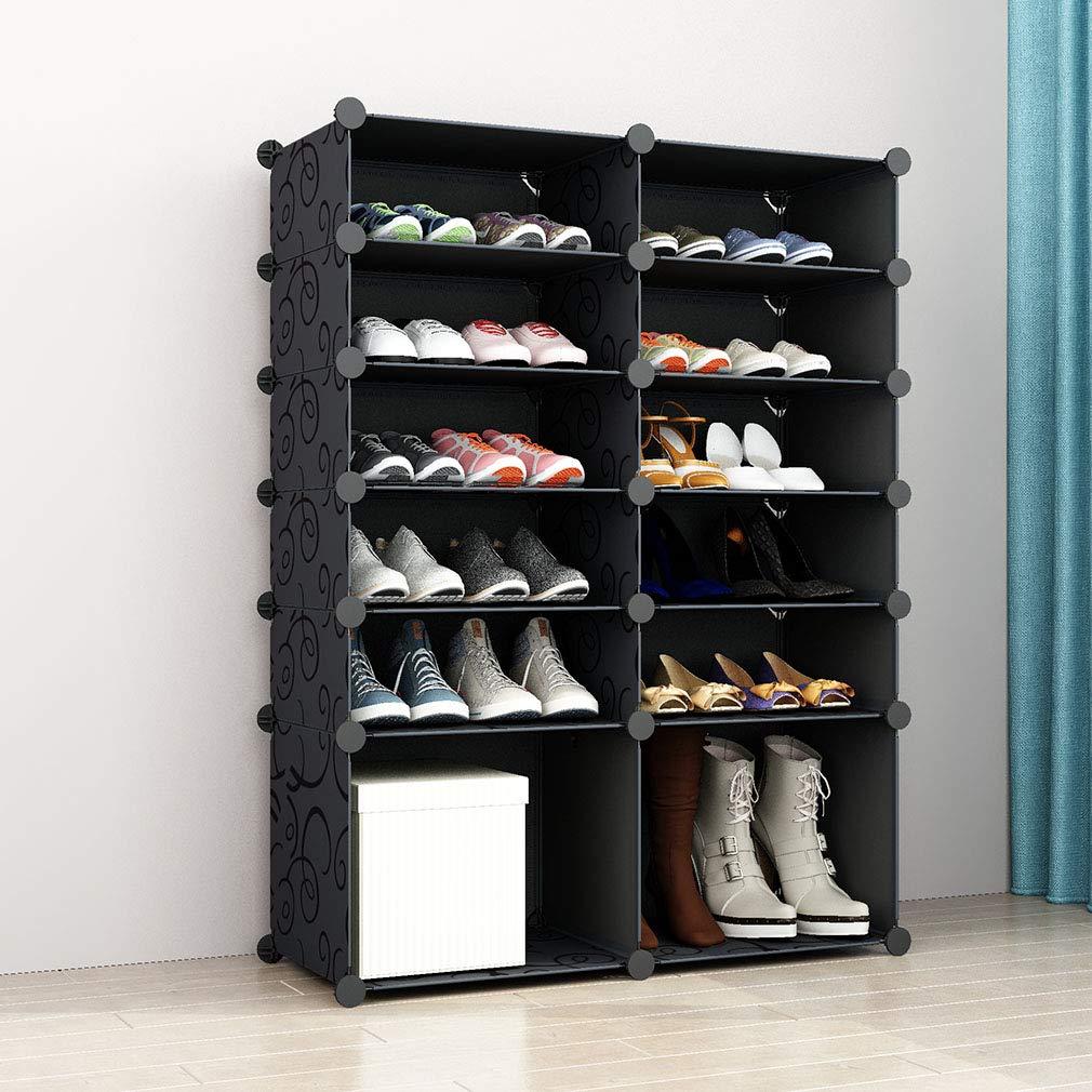 2x5 con BOOTS CUBE 93x37x108cm Organizzatore di scarpe Sistema di scaffalature SIMPDIY Scarpiera Plastica Grande scatola portaoggetti per sneaker
