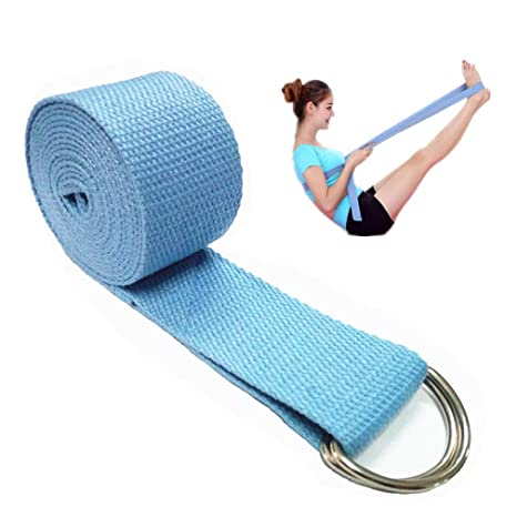 Amazon.com : ReachTop Yoga Strap, 6ft Durable Cotton ...