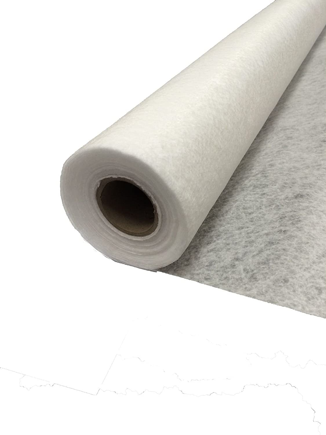 20 m2 GeoTextile Membrane Fleece Non-Woven Fabric - 2.25x8.88m Cut Roll - Weed Prevention - Soakaways Spudulica
