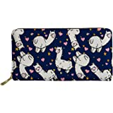 Coloranimal Travel Accessories Passport Credit Card Holders Long Wallet for Women