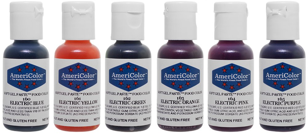 Amazon.com: Food Coloring AmeriColor - Electric Kit - Soft Gel Paste ...