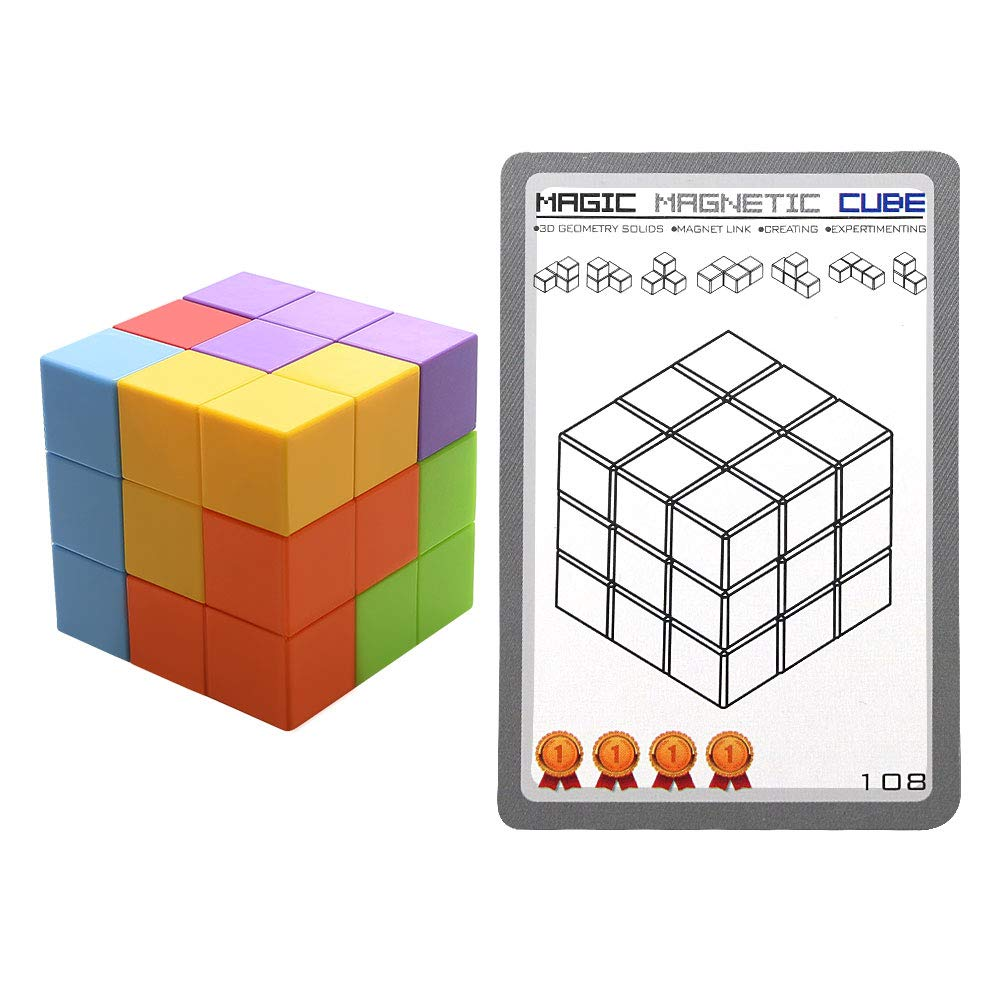 Magnetic Toys Magic Cubes Stress Relief for Adults Magnet Blocks for Kids Magnetic Building Blocks Bricks Toy Educational Puzzles by Bicycle (Image #4)