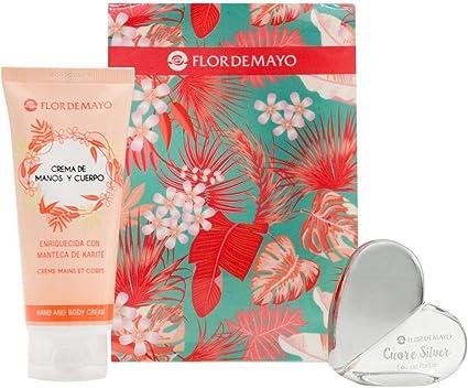Flor de Mayo, Set de Regalo Belleza, Set Colonia Eau de Parfum + Crema de Manos y Cuerpo Perfumada Living Coral, 20ml+100ml: Amazon.es: Belleza