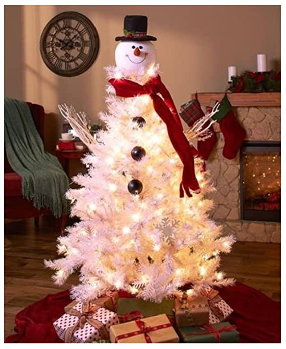 amazoncom snowman christmas tree topper decoration holiday tree ornament festive decor home kitchen
