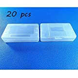 Laixing 20pcs Clear White Game Cartridge Case for Game Boy GBA SP
