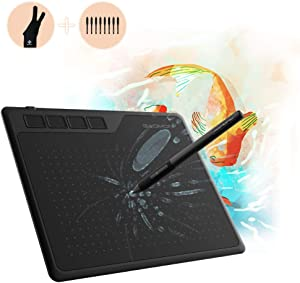 GAOMON S620 6.5 x 4 Inches Graphics Tablet with 8192 Pressure 4 Express Keys and Battery-Free Pen for Digital Drawing & OSU on Mac Win Android Device