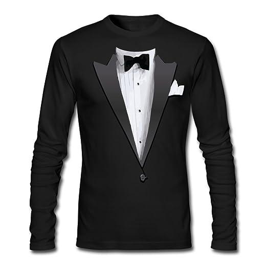 b789fb5d9 Spreadshirt Tuxedo Jacket Costume Bow Tie Men's Long Sleeve T-Shirt by Next  Level,