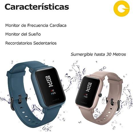 Amazfit Bip Lite SmartWatch Monitor de Actividad Fitness Resistente al Agua 30 Metros Pulsómetro Modos Deportivos iOS & Android (Versión Internacional: Amazon.es: Electrónica