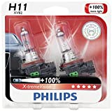 nissan xterra 2006 - Philips H11 X-tremeVision Upgraded Headlight Bulb with up to 100% More Vision, 2 Pack