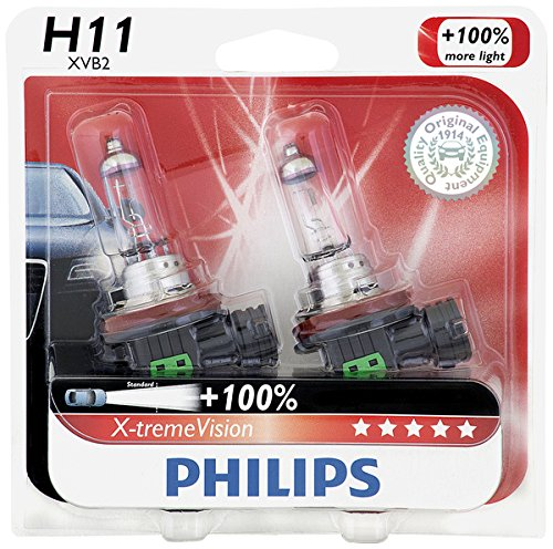 Philips H11 X-tremeVision Upgrade Bulb, 2 Pack (Paper Output Assembly)