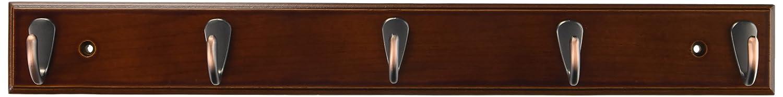 BirdRock Home Modern 3 Hook Coat Rack Black Finish Satin Nickel Hooks