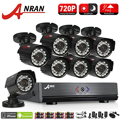 Wireless Security Camera System, ANRAN 4CH 1080P Video Security System 1TB HDD Pre-Installed,4pcs 1080P Wireless IP Cameras