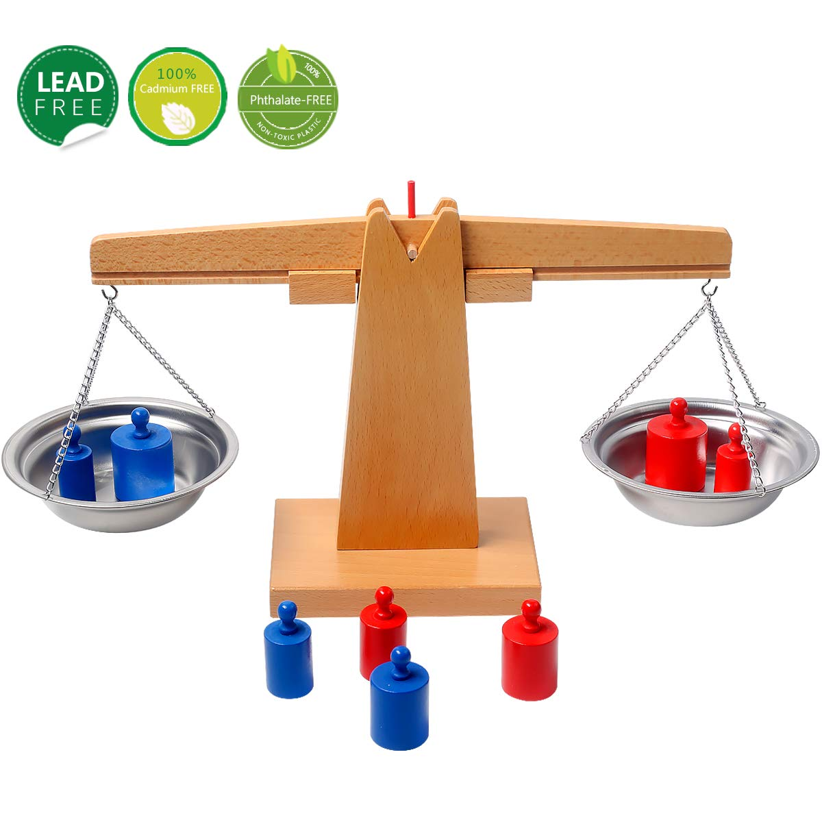 YiGooood Montessori Toys for Toddlers Wooden Balance Beam Weighing Scale Sensorial Early Childhood Training Educational Learning Math Toys