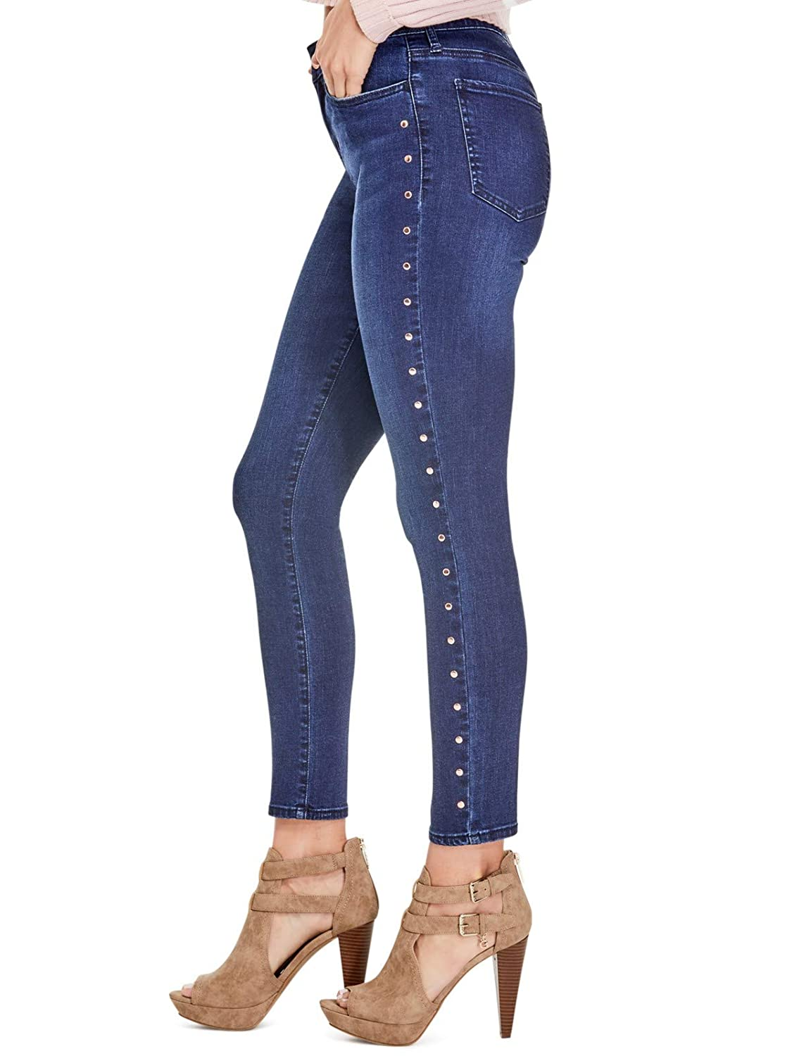 Guess Factory Women's Blaike Studded Skinny Jeans GuessFactory