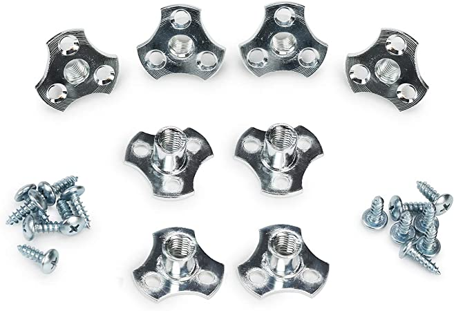 8-Pack 3//8-16 Screw-on Tee Nut Kit T-Nuts Come with Screws and #2 Phillips Power Bit
