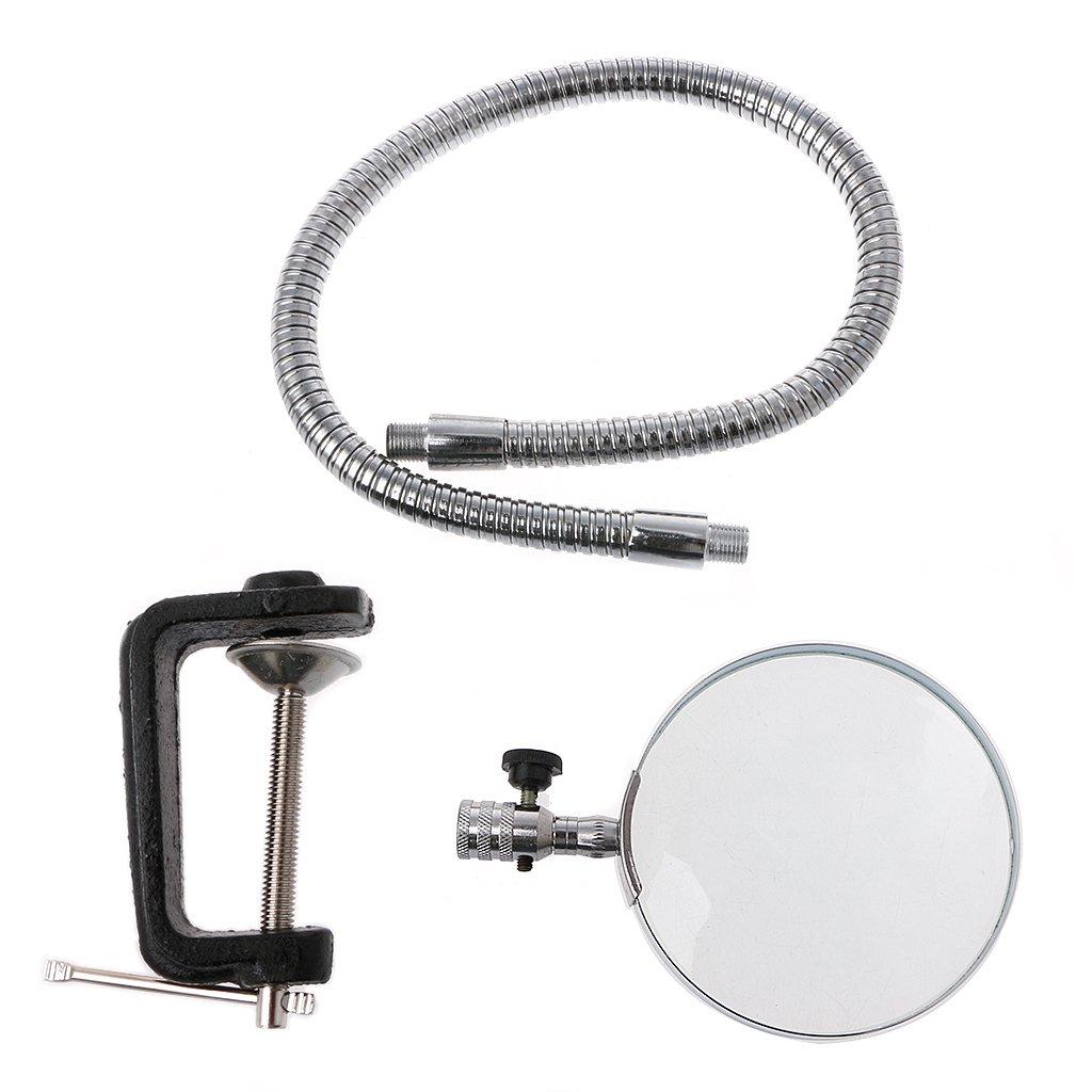 Hukai 5X 100MM Desk Magnifier Table Top Magnifying Glass Adjustable Gooseneck W/Clamp