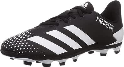 حذاء كرة قدم بريداتور 20.4 اف اكس جي جيه من اديداس برباط وبخطوط جانبية متباينة للاولاد - متوفراللون اسود وابيض
