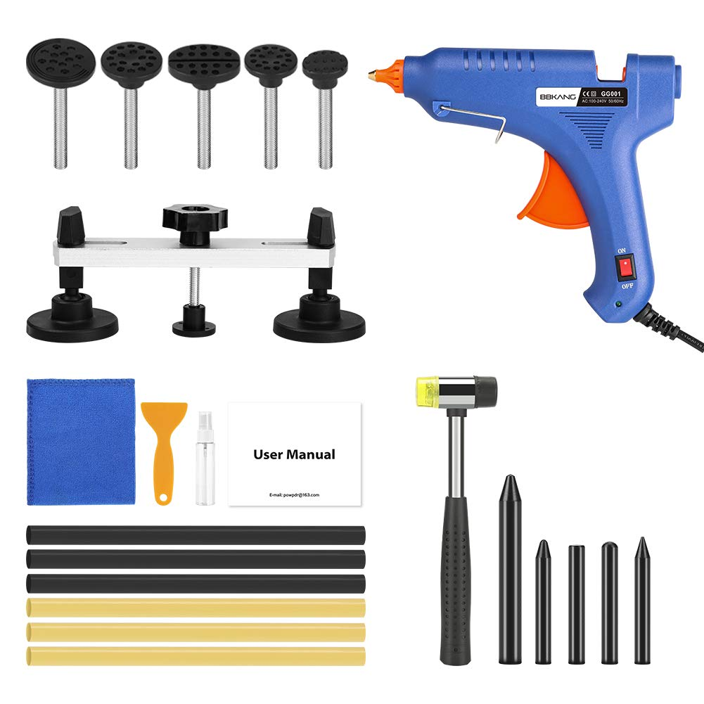 BBKANG 23pcs Paintless Dent Repair Kit - Auto Dent Removal Kit for Car Bridge Dent Puller Pops-a-Dent Tool for Door Ding Hail Damage Dent Remover