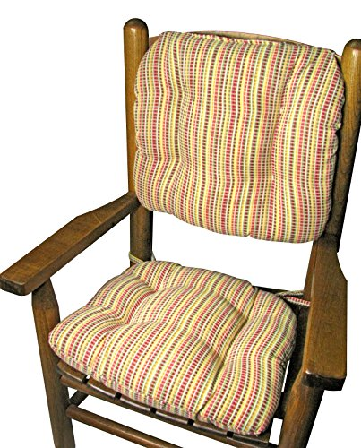Child Rocking Chair Cushions – Indoor / Outdoor: Fade Resistant, Mildew Resistant – Latex Foam Fill, Tufted, Reversible, with Ties – Made in USA – Durable – Machine Washable (Atwood Red, Standard) Review
