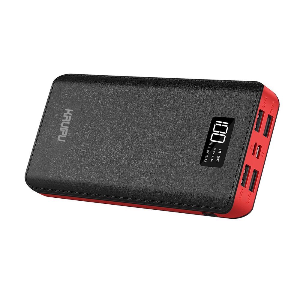 Power Bank 24000mAh Portable Charger Battery Pack 4 OutPut Ports Huge Capacity Backup Battery Compatible Smart Phone Almost All Android Phone And Others