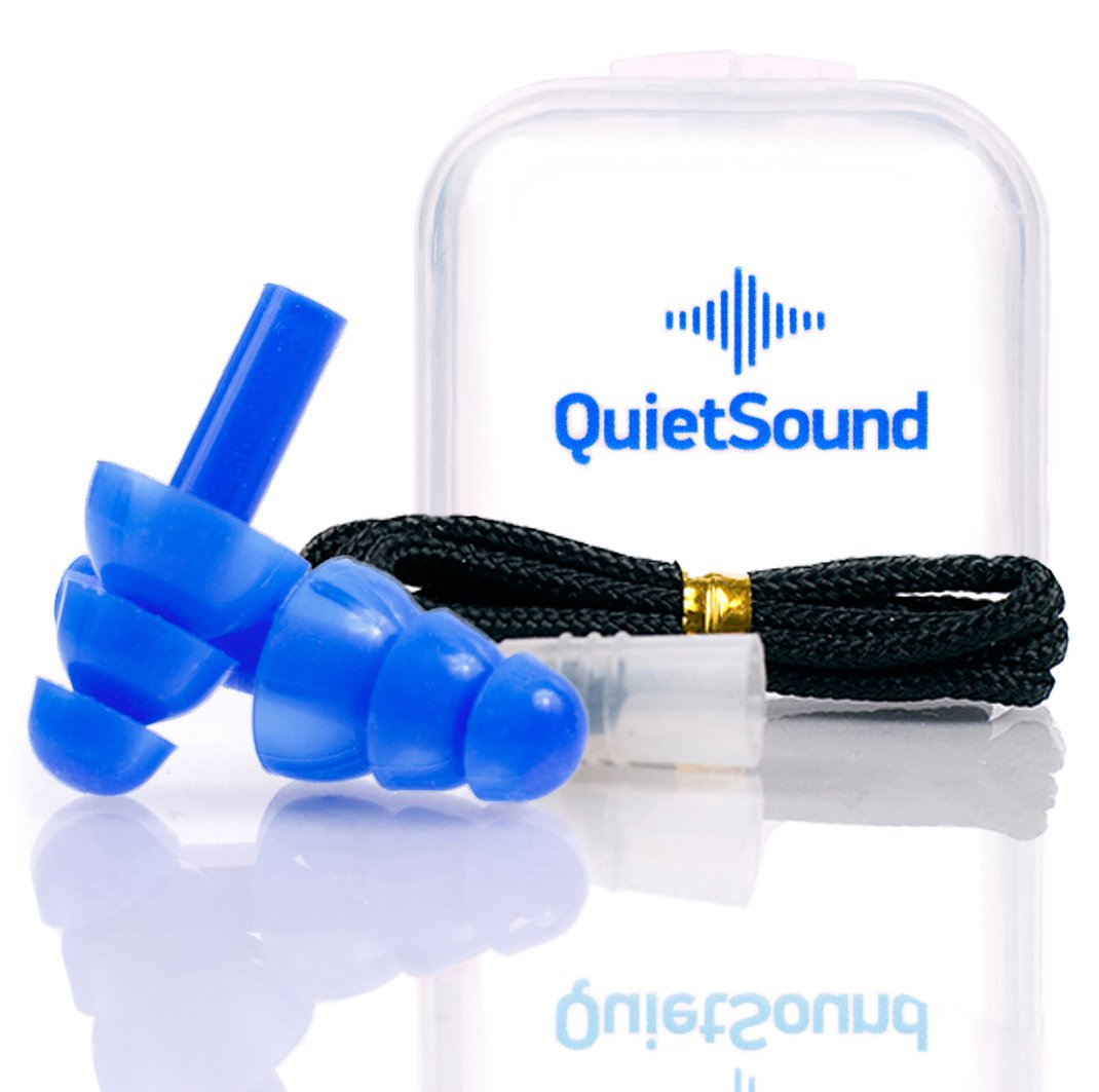 Ears Plugs Noise Reducing Hearing Protection For Sleeping, Concerts, Music, Shooting , Construction Work, Motor Sports Racing, Reusable Soft Hypoallergenic Silicone Material Case Cord Earplugs (Blue)