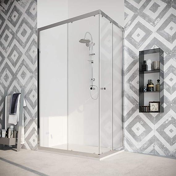 marinelligroup – Box ducha angular 70 x 90 con dos puertas correderas cristal cristal 8 mm. Roble: Amazon.es: Hogar
