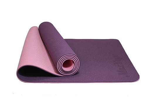 MaxDirect Colchoneta para Yoga, Pilates, Gimnasia de Material Ecológico TPE. Esterilla Antideslizante Muy Ligero de Grosor de 6mm, tamaño 183cm x ...
