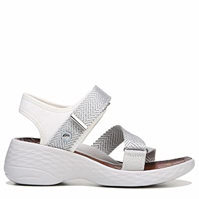 1e84b7a09202 Bzees by Naturalizer Womens Jive Wedges Sport Sandals White 7 Medium (B