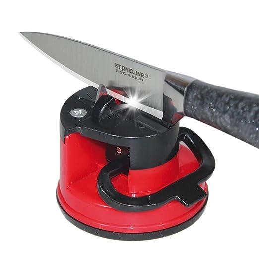 Afilador de cuchillos con ventosa: Amazon.es: Hogar