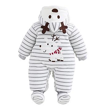 64f0427be353 Amazon.com  Unisex Baby Christmas Rompers Newborn Snowsuit Jumpsuit ...