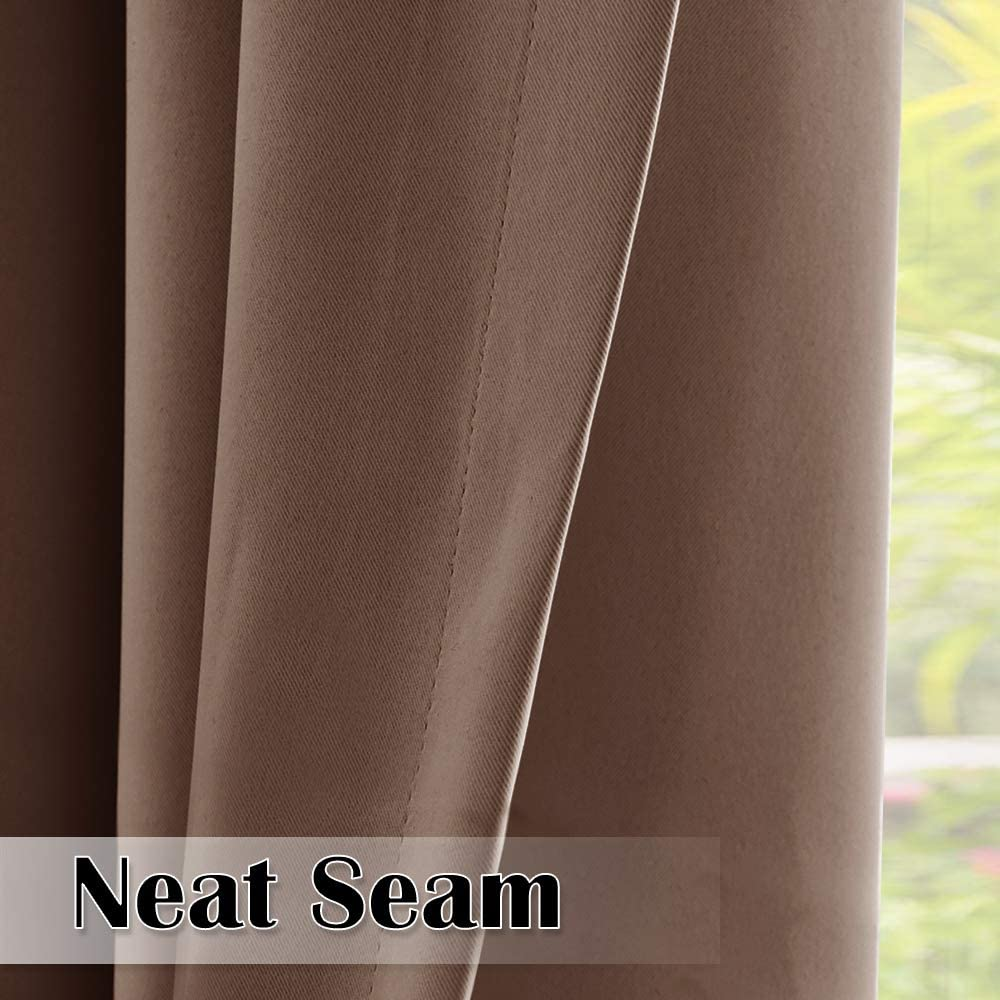 Extra Long Outdoor Blackout Curtains Reduce Summer Heat Sun Thermal Drape for Patio//Balcony//Arbor//Pavilion W52 x L108 inches Grey 1 Panel StangH Gazebo Curtains Outdoor Waterproof