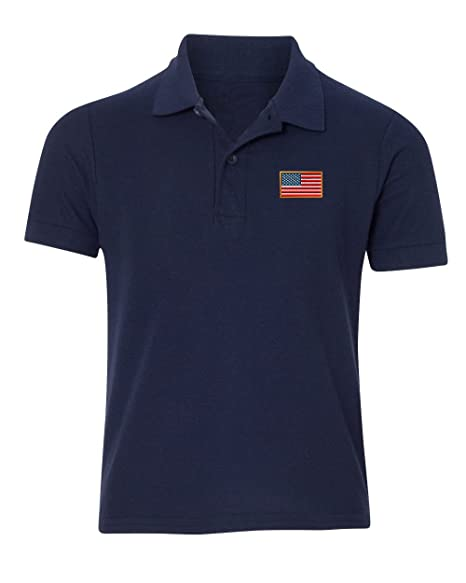 6c3976b6 Speedy Pros American Flag Embroidered Kid Children Toddler Infant Polo Shirt  12mo-6T/Navy