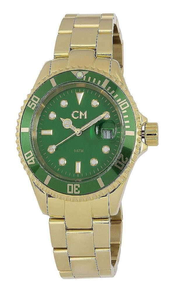 Carlo Monti Varese CM507-299 - Reloj analógico de Cuarzo para Hombre, Correa de Acero Inoxidable Chapado Color Dorado