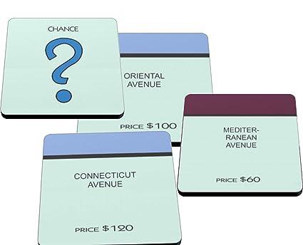 Amazoncom Monopoly Game Board Coasters Made In Usa On Neoprene
