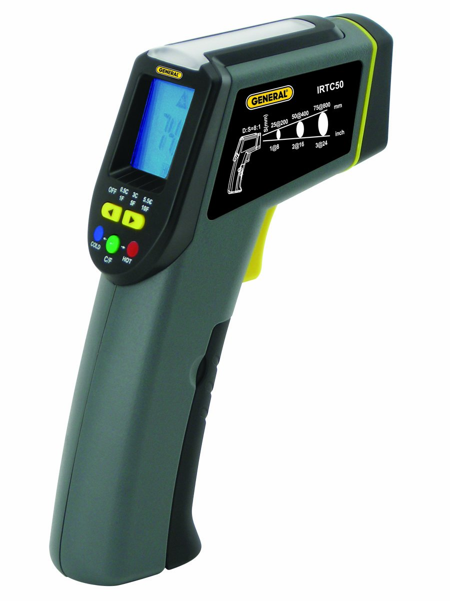 General Tools IRTC50 Thermoseeker 8:1 Energy Audit IR Thermometer with Star Burst Laser Targeting