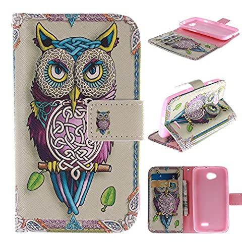 L90 Case LG L90 Case LG L90 D415 Kickstand Case,Tribe-Tiger Stylish Tribe Energetic Owl Design Premium Leather Magnet Slim Flip Kickstand Case Cover for LG Optimus L90 (Lg D415 Phone Case For Girls)
