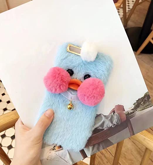 premium selection b9e19 56ab3 Losin Plush Case Compatible with Apple iPhone 6 Plus/iPhone 6S Plus 5.5  Inch Luxury Rabbit Hair Smooth Plush Lovely 3D Chicken/Chick Face Bell ...