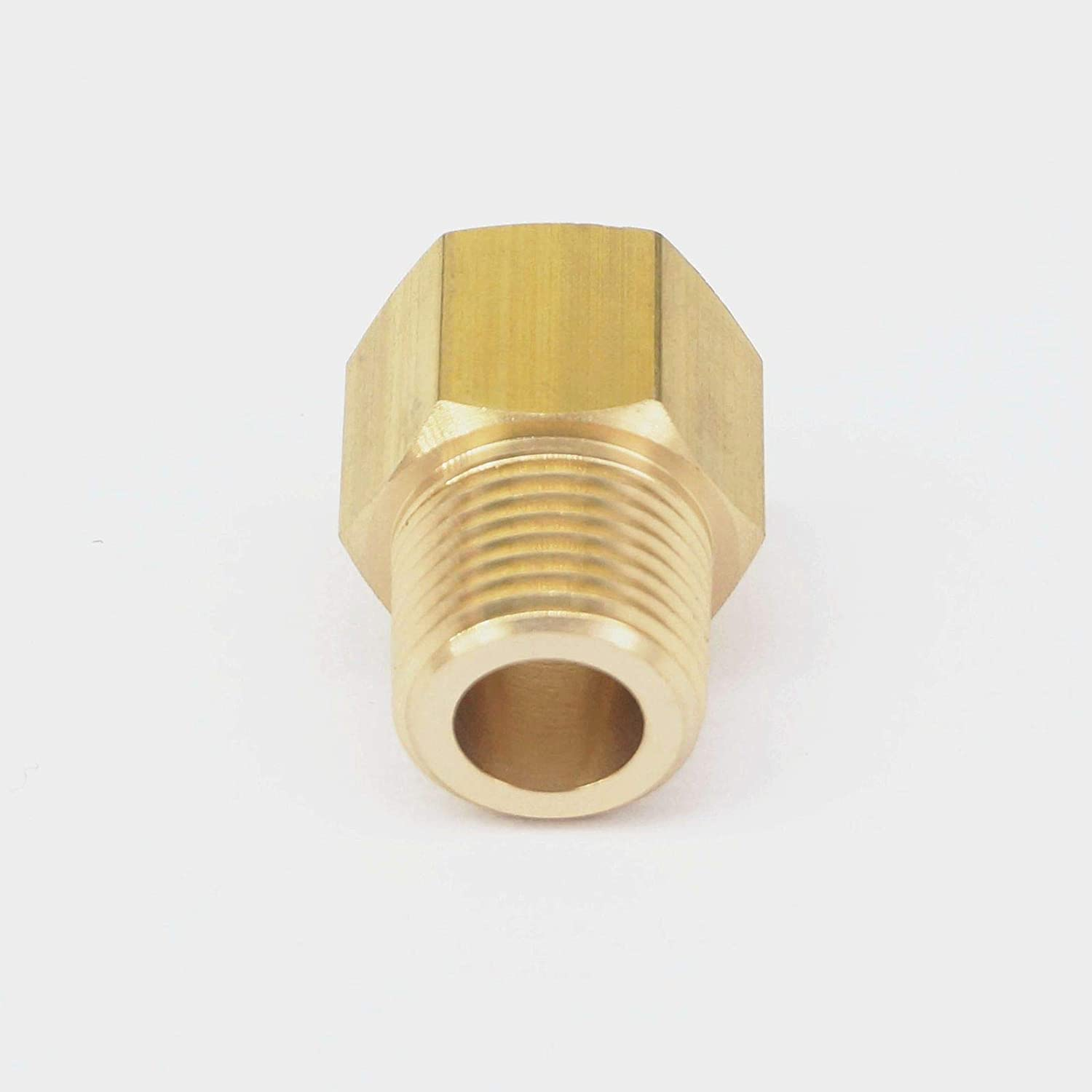 Sorekarain 3//8 NPT Male x 3//8 BSPP Female Brass Pipe Fitting Connector Adapter for Pressure Gauge Air Gas Fuel Water